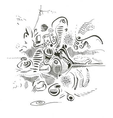 Drawing - C-scape by Ralf Schulze