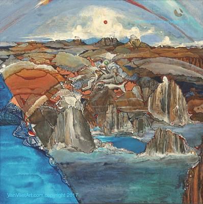 Painting - C You At Du by Richard Van Vliet