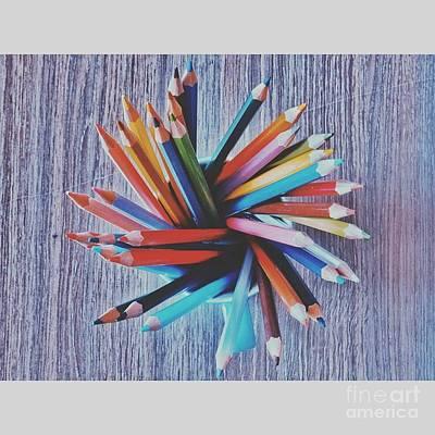 C0l0r Pens Art Print by Laurent Marc Bogo Gonzalo