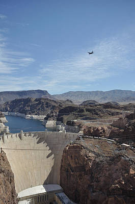 C130 Photograph - C130 Over Hoover Dam by Mark Highfield