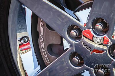 Photograph - C6 Corvette Wheel by Dennis Hedberg