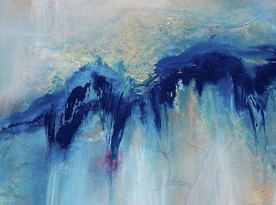 Painting - Ca Blue Waves by Todd Krasovetz