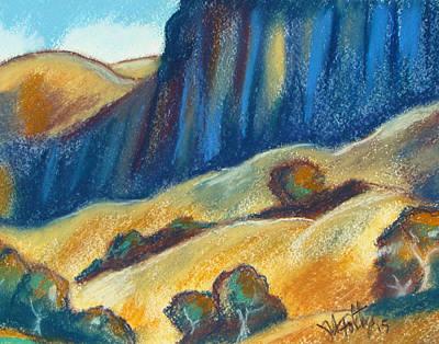 Pastel - Ca Hills by Michael Foltz