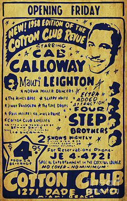 Awesome Show Digital Art - Cab Calloway Poster. Four Step Brother, Cotton Club. Awesome Show by Pablo Franchi