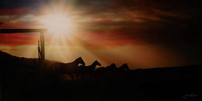 Photograph - Caballo Sunset by Amanda Smith
