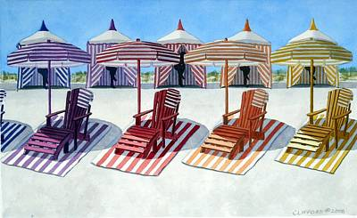 Painting - Cabana Beach by Cory Clifford