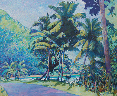 Painting - Cabana Beach by Glenford John