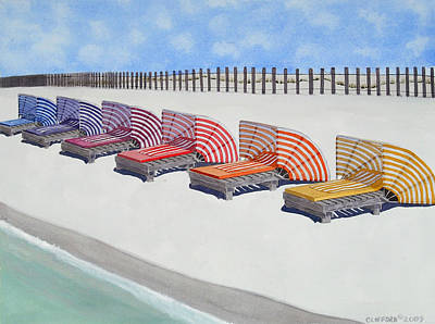 Painting - Cabana Lounges by Cory Clifford