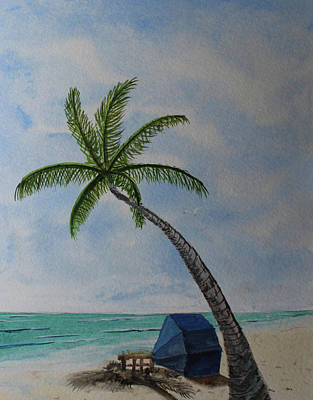 Painting - Cabana Time by Jack G Brauer