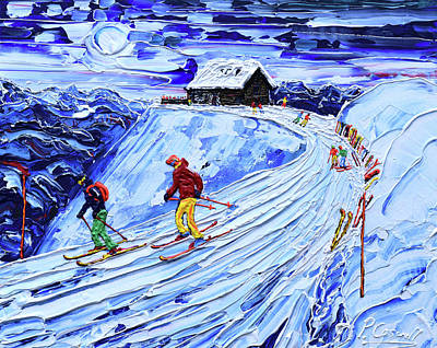Painting - Cabane Restaurant Verbier by Pete Caswell