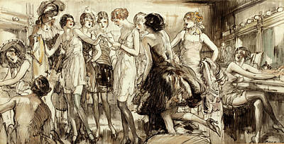 Dressing Room Drawing - Cabaret Dressing Room by Henry Patrick Raleigh