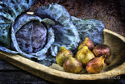Cabbage And Figs Print by Sari Sauls