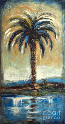 Cabbage Palm Antiqued Art Print by Linda Olsen