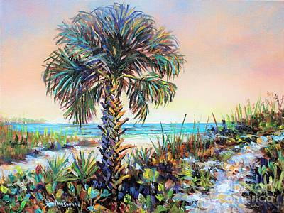 Painting - Cabbage Palm On Siesta Key Beach by Lou Ann Bagnall