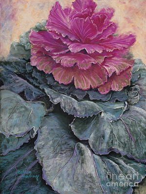 Flower Painting - Cabbage Rose by Debbie Harding