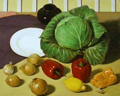 Painting - Cabbage Stew by Robert Holden