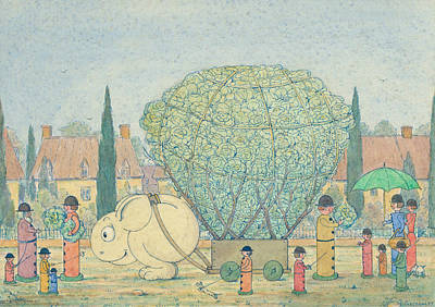 Cabbage Drawing - Cabbages by Herbert Crowley