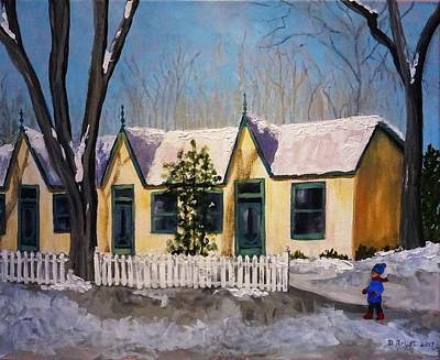 Painting - Cabbagetown Christmas by Diane Arlitt