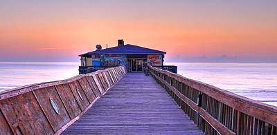 Photograph - Cabby Joe's Sunglow Pier by Carol Montoya