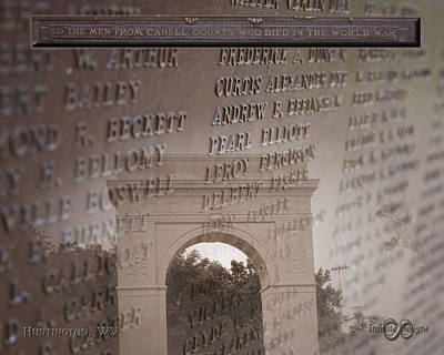 Ritter Park Photograph - Cabell County World War Memorial by Andre  Persun