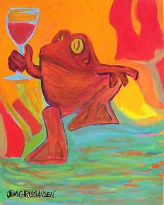 Zin Painting - Cabernet Franc Frog by James Christiansen