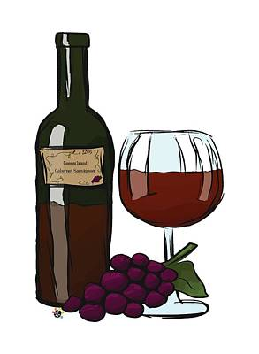 Digital Art - Cabernet Sauvignon by Devon LeBoutillier