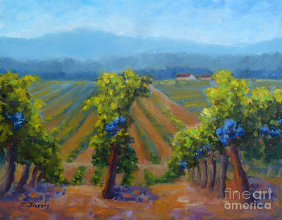 Cabernet Sauvignon Grapes Original by Carolyn Jarvis