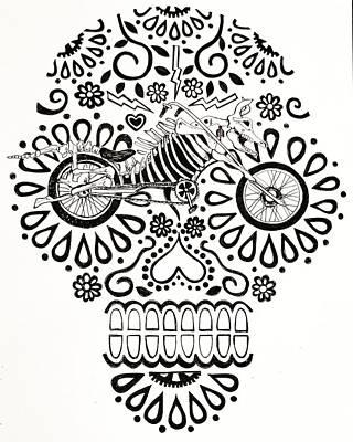 Dia Drawing - Cabeza De Vaca-cicleta by John Parish