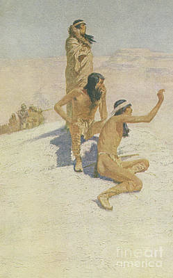 Drawing - Cabeza De Vaca In The Desert by Frederic Remington