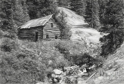 Cabin Along The Way Art Print by James Taylor