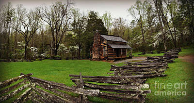 Photograph - Cabin And Fence by Eric Liller
