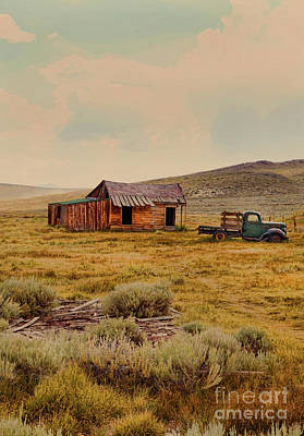 Photograph - Cabin And Pickup Truck by Jill Battaglia