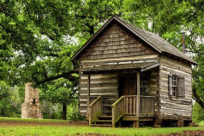 Photograph - Cabin At Fort Washita by Katherine Worley