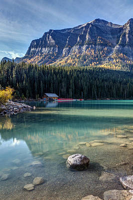 Photograph - Cabin At Lake Louise by Pierre Leclerc Photography