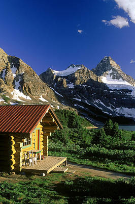 Without People Photograph - Cabin At Mt Assiniboine Lodge, Mt by David Nunuk