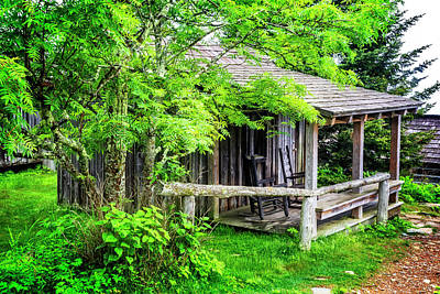 Photograph - Cabin At The Top Mt Leconte by Debra and Dave Vanderlaan