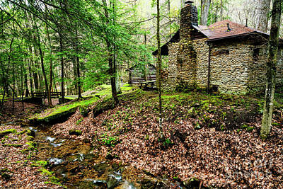 Photograph - Cabin By A Creek by Thomas R Fletcher
