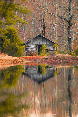 Sunset By The Lake Photograph - Cabin By The Lake Vertical by Shelby  Young