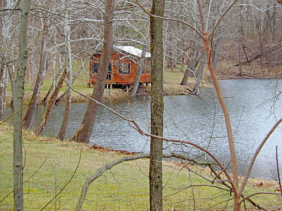Photograph - Cabin By The Wabash by Tina M Wenger