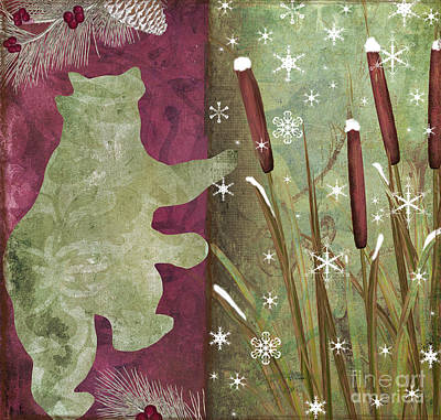 Cattail Painting - Cabin Christmas IIi by Mindy Sommers