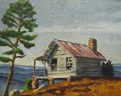 Painting - Cabin by D T LaVercombe