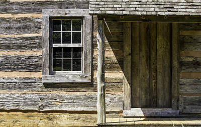 Photograph - Cabin Door 01 by Jim Dollar