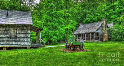 Art Print featuring the photograph Cabin Fever Great Smoky Mountains Art by Reid Callaway