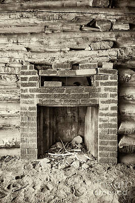 Photograph - Cabin Fireplace by David Millenheft