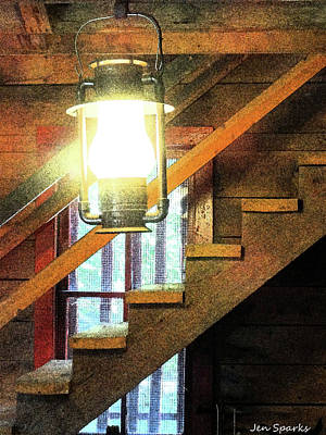 Photograph - Cabin Glow by Jen Sparks