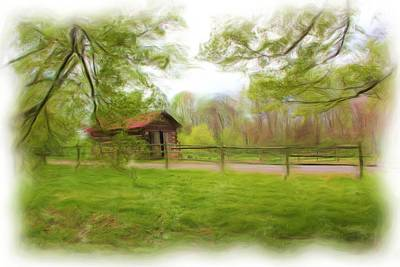 Photograph - Cabin House Series 1360 by Carlos Diaz