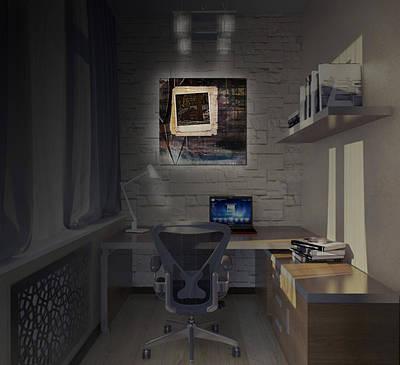 Digital Art - Cabin In Paint by Richard Ricci