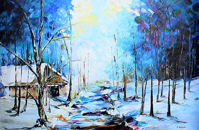 Painting - Cabin In The Blue by Kevin Brown
