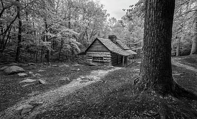 Smokey Mountains Photograph - Cabin In The Cove by Jon Glaser