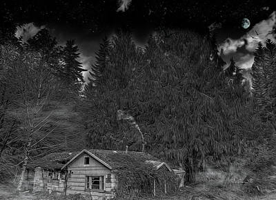 Photograph - Cabin In The Fantasy Forest by Bill Posner
